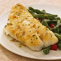 Pan-seared cod with shallots & thyme - 1 cod fillet for 290 calories