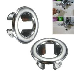 3pcs-Bathroom-Basin-Sink-Spare-Round-Overflow-Cover-Tidy-Trim-Chrome-Replacement