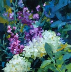 """Daily+Paintworks+-+""""Magical+Garden""""+-+Original+Fine+Art+for+Sale+-+©+Libby+Anderson"""