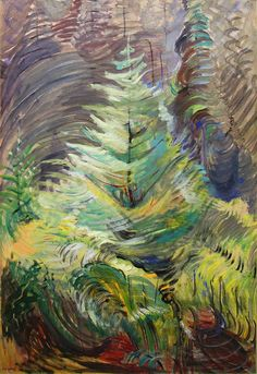 "Sometimes I think I should just start an Emily Carr board. ""Emily Carr, Heart of the Forest, Tom Thomson, Canadian Painters, Canadian Artists, Impressionist Paintings, Landscape Paintings, Landscapes, Emily Carr Paintings, Art Chinois, Group Of Seven"
