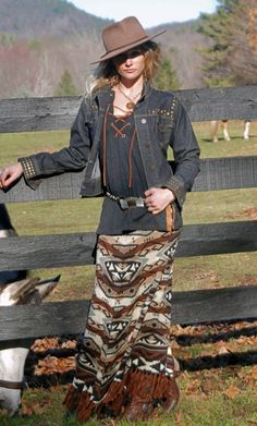 Tasha Polizzi Fall 2016 Azteca Blanket Skirt http://www.cowgirlkim.com/tasha-polizzi-fall-2016-azteca-blanket-skirt.html