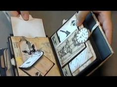 My chunky mini album with BoBunny etcetera paper - YouTube