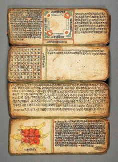 Book of Astrology and Omens, Nepal, 14th-16th Century via LACMA Collections
