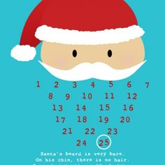 Santa Christmas Countdown Printable