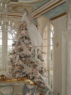 Below are the Shabby Chic Christmas Decoration Ideas. This article about Shabby Chic Christmas Decoration Ideas was posted under the … Beautiful Christmas Trees, Magical Christmas, Noel Christmas, Pink Christmas, All Things Christmas, Country Christmas, Peacock Christmas, Christmas Mantles, Elegant Christmas