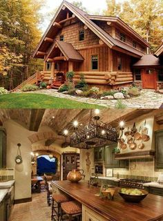 Casas san jorge – – Famous Last Words Log Cabin Living, Log Cabin Homes, Cottage Homes, Log Cabins, Log Home Decorating, Timber House, Cabins And Cottages, Cabins In The Woods, House Rooms