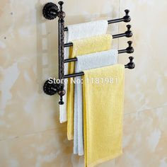 bathroom rack Picture - More Detailed Picture about 4 Arm Black Plated Copper Towel Bar Rotating Towel Rack Bathroom Kitchen Towel Rack Holder Hardware Accessory I628 Picture in Bathroom Shelves from XIRI Sanitary Ware Store,Best Choice   Aliexpress.com   Alibaba Group