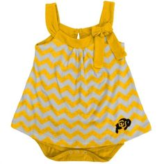 Colorado Buffaloes Girls Infant Gold Emily Creeper with Skirt