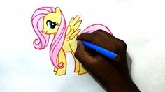 how to draw my little pony flutter shy easy