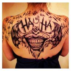 #tattoos #batman #joker #darkknight ❤ liked on Polyvore featuring accessories, body art and tattoos