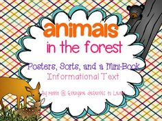 Teaching about animals soon? Add this set of posters and sorts to your resource collection!  Students will love Jack, the character featured in the mini-book.  Join him as he learns about animals living in the forest.Included:Animal vocabulary postersAnimal habitat sortAnimal diet sortCan/Has/Is chartBubble Map chartAnimal draw and color11 Page Mini Book all about animals in the forestIn the mini-book, students will tell about their favorite animal, practice letter shapes, animal word…