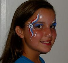 Face painting ideas face painting for boys, face painting designs, blue . Face Painting For Boys, Face Painting Designs, Paint Designs, Body Painting, Fourth Of July Cakes, 4th Of July Nails, 4th Of July Party, July 4th, Kids Makeup
