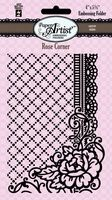 Hot Off the Press Embossing Folder - Rose Corner