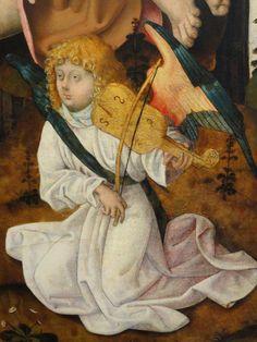 MAESTRO DEL ALTAR DE SAN BARTOLOMÉ, Bautismo de Cristo (detalle), 1485-1500, National Gallery of art, Washington