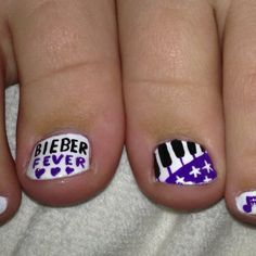 Justin Bieber nail polish, pedicure. Only because my friend needs her nails done for the jb concert!