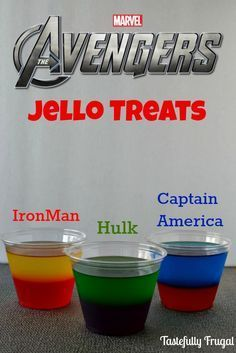 The Avengers Moves & Jello Treat: Learn to play like Hulk, Iron Man and Captain America and a delicious treat that can also be friend Superhero First Birthday, Hulk Birthday, Birthday Games, 4th Birthday Parties, 5th Birthday, Iron Man Birthday, Super Hero Birthday, Superhero Party Food, Avengers Party Foods