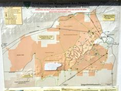 Map of desert trails in Rand Mountains Mgmt Area