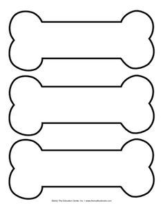 dog bone template printable - Google Search