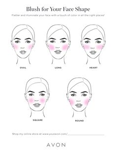 Best Face Makeup, Love Makeup, Makeup Inspo, Makeup Inspiration, Makeup Ideas, Face Shape Chart, Where To Apply Blush, Makeup Hacks Every Girl Should Know, Blush For Dark Skin