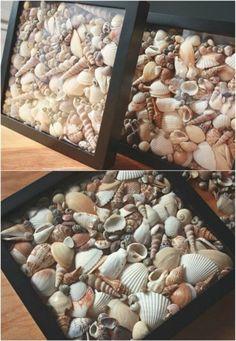 20 Fabulous Beach-Worthy Projects to Create from Seashells 20 fabelhafte Strandprojekte aus Muscheln Seashell Art, Seashell Crafts, Beach Crafts, Fun Crafts, Crafts With Seashells, Seashell Decorations, Decorating With Seashells, Seashell Display, Seashell Wind Chimes
