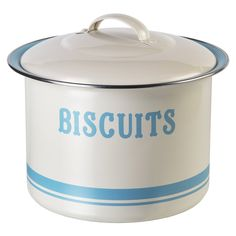 Home Sweet Home Vintage Gloss Olive Tin Retro Biscuits Canister Biscuit Tin Barrel by Home Sweet Home