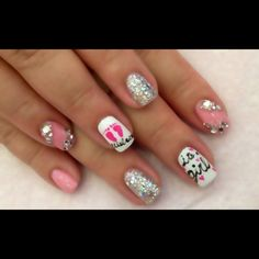 Baby shower nails, how sweet,  doing this but for boys!!!!