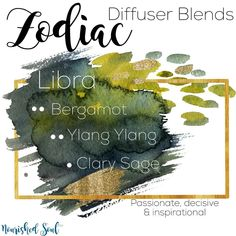 ♎️l i b r a ♎️ Libra are the idealistic peacemakers of the zodiac. They are gracious, charming, and cooperative, and they always look for justice and balance in life. The ability to adapt and be accepting to whatever comes one's way. These oils are the perfect match: Bergamot the oil of self-acceptance Ylang Ylang - the oil of the inner child Clary Sage - the oil of clarity & vision