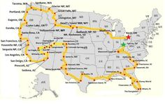 Some good stops for a cross-country road trip. Northern route – including Badlan… Some good stops for a cross-country road trip. Northern route – including Badlands National Park, Yellowstone, Mt Rushmore and Glacier National Park Rv Travel, Places To Travel, Places To Go, Road Trip Destinations, Travel Gadgets, Camping Places, Texas Travel, Vacation Travel, Cruise Vacation