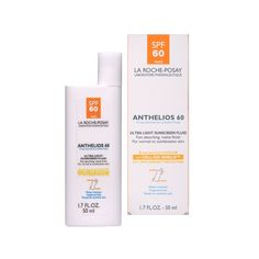 La Roche-Posay Anthelios 60 Ultra Light Sunscreen Fluid for Face, 1.7-Ounce Bottle. #beauty, #skincare, #suncare, #care
