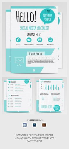 Download instantly this beautiful, professional resume template that - Examples Of Resumes For Restaurant Jobs