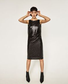 TUBE DRESS WITH SEQUINS-DRESSES-WOMAN | ZARA Poland