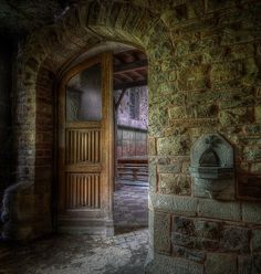 Beautiful entranceway to an abandoned chapel somewhere in Europe.