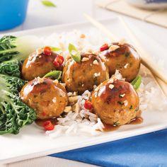 Boulettes teriyaki - Je Cuisine Potato Salad, Shrimp, Yummy Food, Yummy Recipes, Potatoes, Ethnic Recipes, Magazines, Photos, Discovery