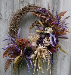 Fall Wreath Autumn Designer Wreath by NewEnglandWreath on Etsy, $139.00