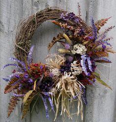 Fall Wreath Autumn Designer Wreath by NewEnglandWreath on Etsy, $139.00