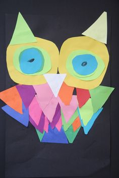 Paper Owls Learning shapes and how to combine them to make other shapes.
