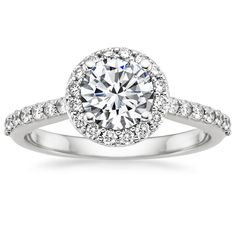 18K+White+Gold+Halo+Diamond+Ring+with+Side+Stones+(1/3+ct.+tw.)+from+Brilliant+Earth