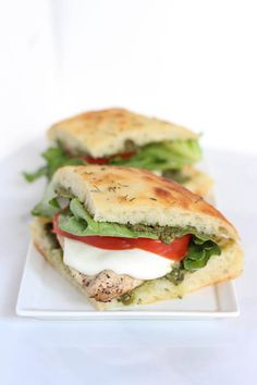 Grilled Chicken Pesto Sandwich | SpoonfulofFlavor.com
