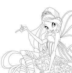 winx club coloring pages bloom | Winx Club Bloom Sirenix Coloring Pages