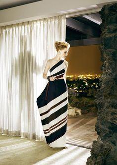 Guinevere van Seenus wears Rosie Assoulin in LA shoot