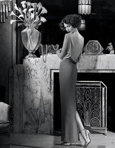 Karlie Kloss wore Tom Ford Fall 2012 Longsleeve Dress in Americana Manhasset. Boho Fashion Winter, 20s Fashion, Estilo Fashion, Ideias Fashion, Fashion Dresses, Club Fashion, Fashion Black, Fashion Vintage, Vogue Fashion