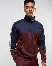 Illusive London Overhead Track Jacket In Burgundy With Taping at ASOS. Mens Velour Tracksuit, Sport Fashion, Mens Fashion, Casual Outfits, Men Casual, Athletic Looks, Latest Fashion Clothes, Fashion Online, Sports Jacket