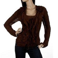 WOMENS PLUS SIZE BROWN TUNIC XL 2XL 3XL CURVY CLOTHING KATELYN MAX  http://stores.ebay.com/CurvyClothing
