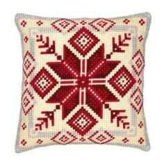 """Needlepoint Vervaco Cushion Kit """"Nordic Snowflake"""", cross stitch kit, embroidery kit, size 16 ( - Scandinavian Design Trends - Have Best Home Decor ! Snowflake Embroidery, Hand Embroidery Kits, Machine Embroidery, Needlepoint Pillows, Needlepoint Kits, Tent Stitch, Stitch Kit, Cross Stitch Cushion, Cross Stitch Numbers"""