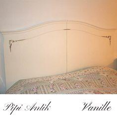 Sengegærde malet med Vanille Autentico kalkmaling, privateje