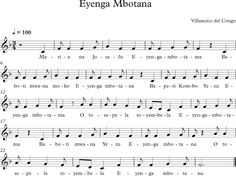 Eyenga Mbotana. Villancico Africano del Congo.