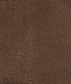 Nassimi Stingray Faux Leather Vinyl - Copperpot Brown - $27.65 | onlinefabricstore.net For the vintage secretary chairs?