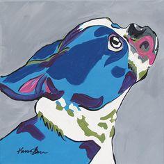 Pop Art Pet Portraits by Karren M. Garces - Dog Milk