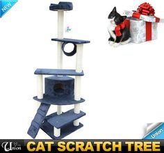 "HOMCOM New Kitty Cat Scratcher 69"" Cat Tree Condo Post Tower Toy Pet Furniture with Tier by Homcom, http://www.amazon.com/dp/B006PAQTPY/ref=cm_sw_r_pi_dp_vAG1qb04GY4GS"