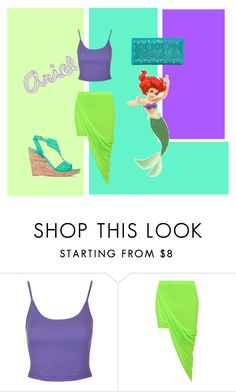 """""""Ariel #2 disney princess"""" by brittneycool10 on Polyvore featuring Topshop, WearAll, Apt. 9 and ShoeDazzle"""